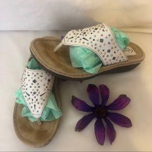 Clark's White Artisan Sandals